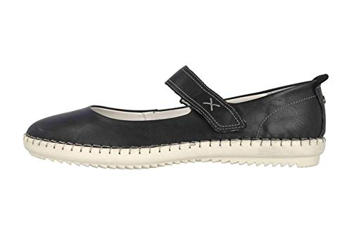 camel active Damen Ethnic 71 Mary Jane Halbschuhe , Schwarz (Black 2) , 40 EU (6.5 UK)