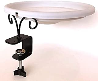 EHF Deck Mounted Songbird and Wild Bird Spa and Bath - with Gray Color Bowl - 1-Quat Water Capacity