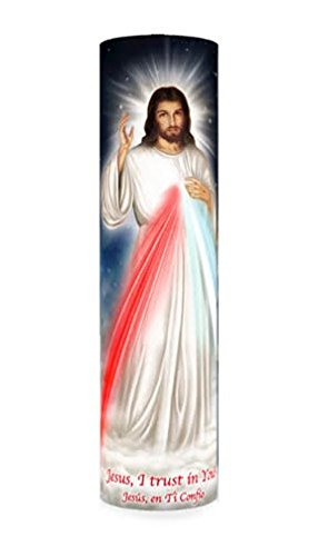 Divine Mercy LED Flameless Devotion Prayer Candle, Religious Gift, 6 Hour Timer for More Hours of Enjoyment and Devotion!