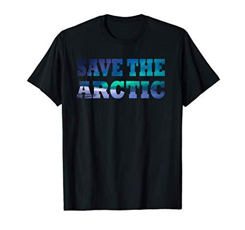 Save The Arctic - Aurora Borealis Landscape T-Sh
