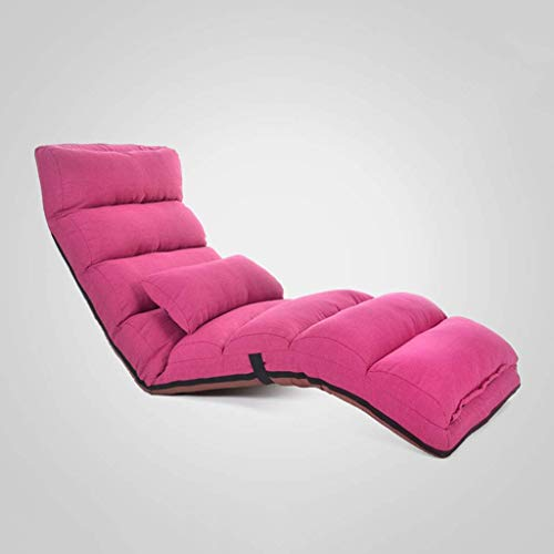 Chunjiao Sofá Sofá Lazy Estera del Piso de meditación Cojín de Suelo sofá de la Silla Mirador Silla Suelo Silla Plegable (Color : Pink)