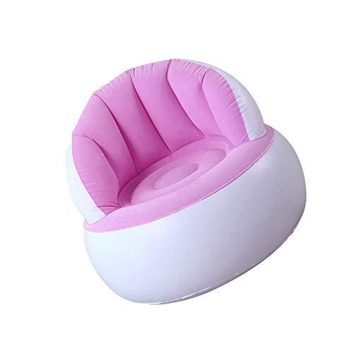 BANGSUN Strandkorb Lazy Couch mit Rückenlehne aufblasbares weiches Sofa für rosa Kinder Beflockung Stuhl Pouf