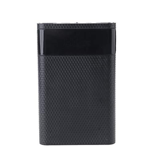 Meipai QC3.0 Dual USB Type-C PD 4X 18650 Caja de Caja de Banco de de batería, Adaptador de Corriente de Cargador rápido de luz LED, para Tableta de teléfono Celular