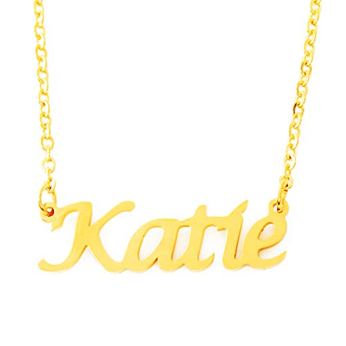 Katie Nome Personalizzato–Collana placcata Oro 18kt–Catena Regolabile 40,6cm–48,3cm imballaggio