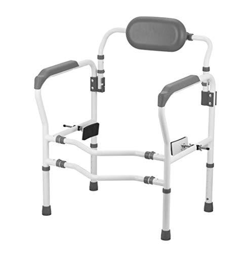 Reposabrazos WC, de instalación rápida reposabrazos inodoro discapacitados / ancianos, con 90 ° respaldo giratorio, 6 altura / anchura 2 de carga lb ajustable, 330, de alta resistencia tubo de acero a