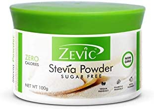 Zevic Stevia Sugar Free 100% Natural Zero Calorie White Powder - 100 g