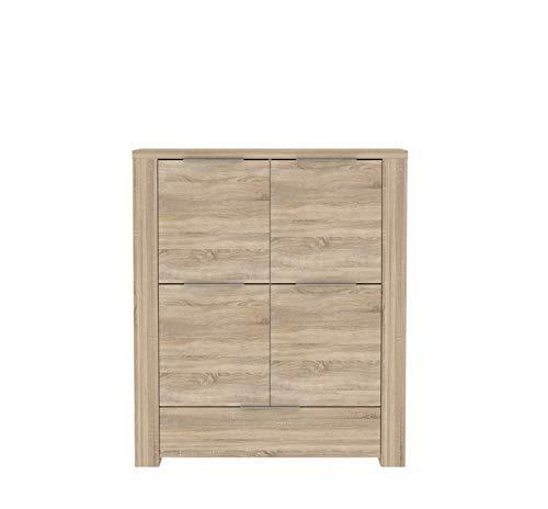 FORTE Calpe Schrank, Holzwerkstoff, 102,2 x 157 x 133,7 cm