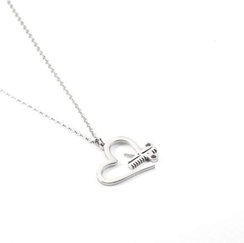 onedayday Liebe Schere Halskette Rose Gold Scissors Anhänger Friseur Kosmetikerin Graduation Gift @ Silber