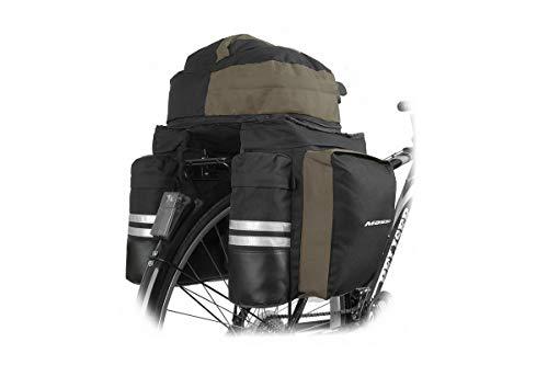 Massi CM230 Doble Alforja de Bicicleta, Adultos Unisex, Negra, 500x380x620mm