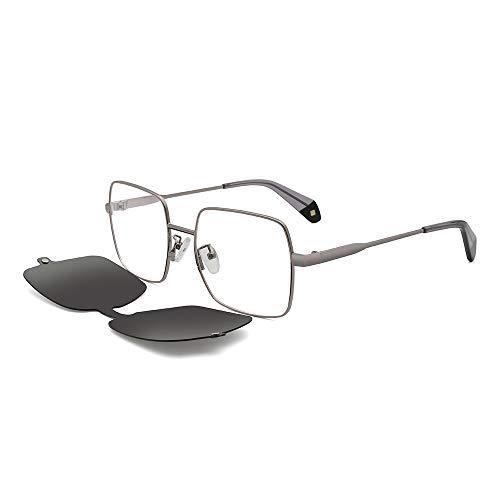 VentiVenti 2020 gafas de sol polarizadas con clip magnético cuadrado de metal reemplazable con bloqueo de luz azul, lente colorida...