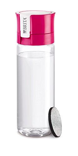 Brita 1016333 Trinkflasche mit Filter fill and go, Deckel: Polypropylen, Mundstück: Polyethylen, Korpus: BPA-freier Kunststoff, rosa, 7.5 x 7.5 x 22.0 cm