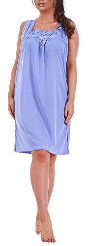 i-Smalls Damen Ärmelloses Damen Nachthemd aus 100% Baumwolle (M) Lila