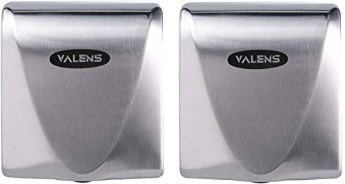 VALENS 2 Pack Hand Dryers, Bathroom Hand Dryers Commercial and Household, Stainless Steel Cover 1400W(Brushed)