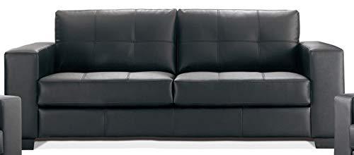SEDEX Madelaine 3er Sofa Garnitur Couch Polstergarnitur Pellissima Kunstleder - schwarz