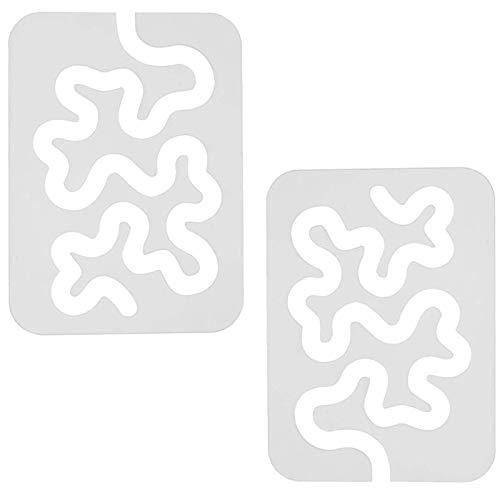 Regla AcríLica Con Plantilla De Patchwork Para Acolchar De 2 Piezas, MáQuina De Coser Para El Hogar De 4 Mm De Grosor, Regla De Patchwork De Costura Con Forma Especial
