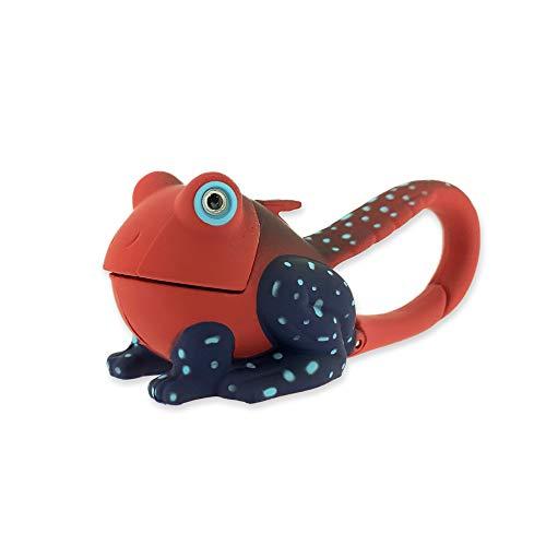 Sun Company Lifelight Animal Carabiner Flashlight | Mini Animal Keychain Flash Lights | for Kids, Nurses, Camping (Red Frog)