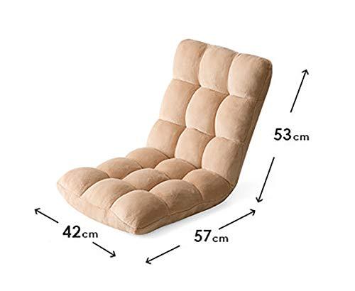 TKLLOVE Chaise Pliante en éponge, Fauteuil De Repos Portable pour Chaise De Loisirs Portable D'extérieur Inclinable à La Maison, Haut Rebond, Acier éponge Violet