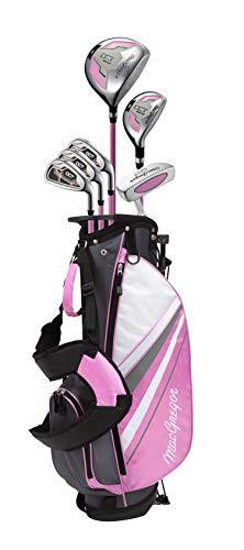 MACGREGOR DCT3000 Junior Juego de Palos de Golf, niña, Rosa/Blanco, Girls Right Hand 6-8 Years