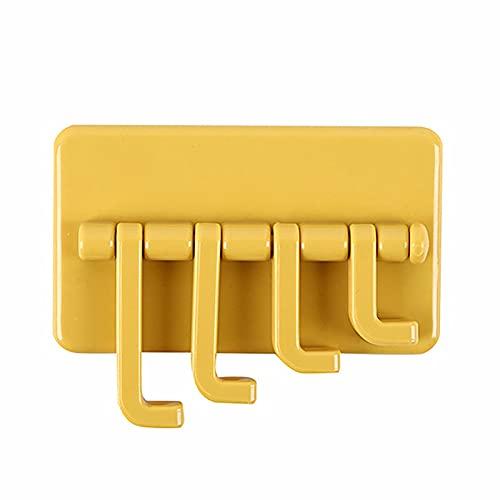 NUOY Ganchos adhesivos, resistentes al agua, giratorios sin perforaciones, ganchos de pared resistentes para colgar toalla, bolsa de llaves, para cuarto de baño y dormitorio (3,74 x 2,40 cm)