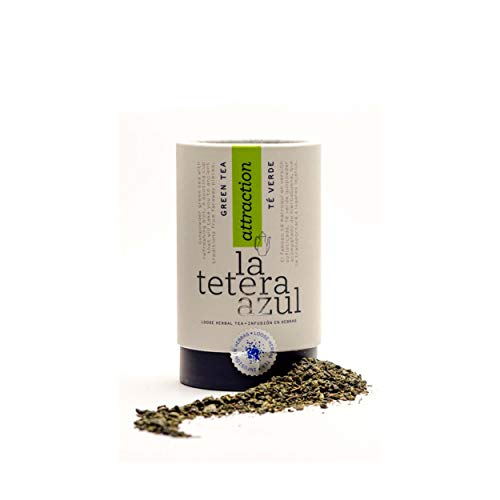 LA TETERA AZUL Premium groene thee buskruit met pepermunt.Marokkaanse Moorse Arabische Groene Thee.Bulkblik van 170 gram voor 68 infusies.