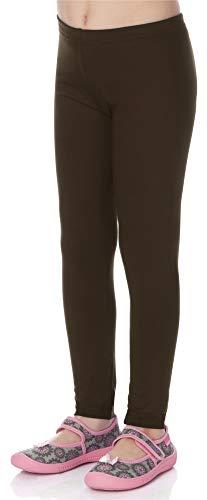 Merry Style Leggins Mallas Pantalones Largos Ropa Deportiva Niña MS10-130 (Marrón, 158 cm)