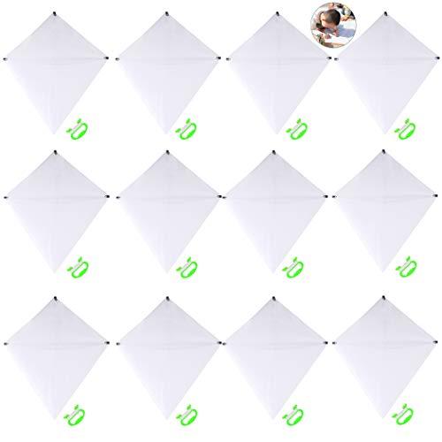 ZOYLINK 12 Set Bambini Bianco Kite Blank Kite Outdoor Gioco Giocattolo Creativo Fai da te Colorare Aquilone Volante con Girevole e Linea