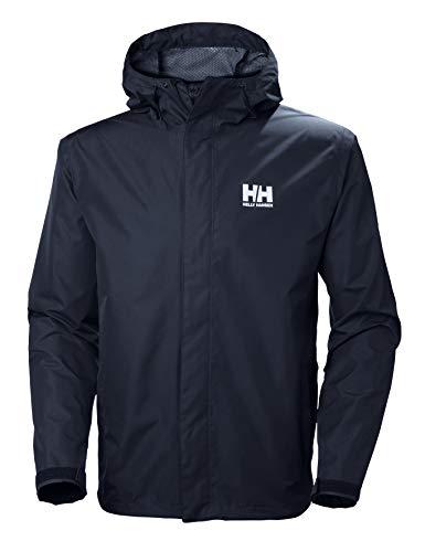 Helly Hansen Men's Seven J Waterproof Windproof Breathable Rain Jacket, 596 Navy, Small