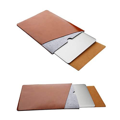 Emoly Capa para laptop de poliuretano para MacBook Pro e MacBook Air 13,3 polegadas, compatível com modelos A1466/A1502/A1425 (marrom)
