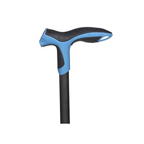 Antar Soft Step Aluminium Gehstock blau