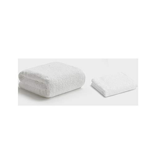 NAFE Baño Toalla Fija, Ultra Grueso y Suave de la Toalla de Mano del algodón (2-Pack) - Multiusos Toallas de Mano para el baño, la Mano, Cara, Gimnasio y SPA White