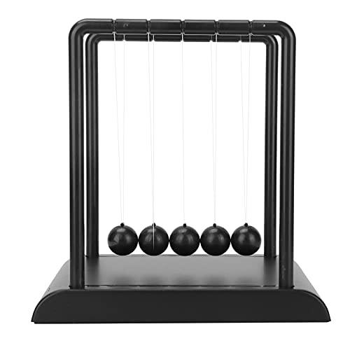 Bola de péndulo de decoración, Bolas de plástico y Acero para Newton Balance Ball portátil para Estudio para el hogar para Biblioteca