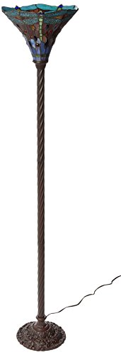 Warehouse of Tiffany's 1509-BB75B Dragonfly Tiffany-Style 72-Inch Torchiere Lamp