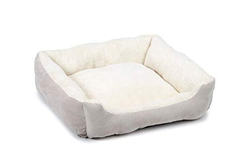 Beeztees Mogina - Hundebett Hundekissen Hundedecke - grau/weiß - 55x50x20 cm
