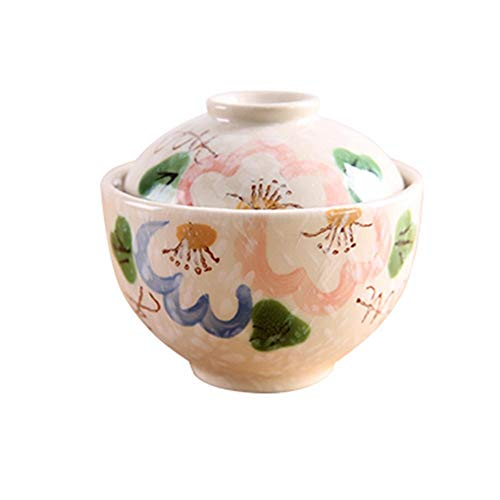 Tazón Oyster Egg Cuenco 11,5 cm/cuencos de agua, platos de sopa, el tamaño de la taza, sopa, olla, la vajilla de cerámica tapa vajillas hogar, tazón retro (Color : 1)