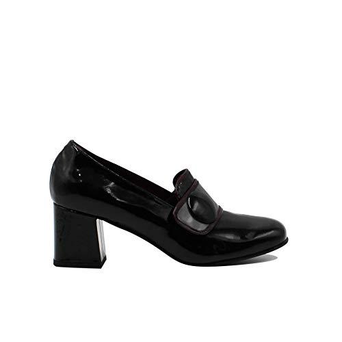 WHY NOT? - Zapatos de Vestir de Cuero para Mujer Negro Negro Negro Size: 39 EU