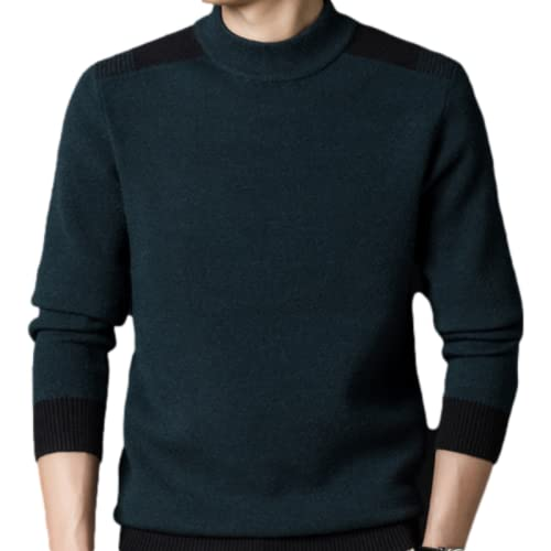 Jersey para Hombre, suéter con Puntada, Cuello Redondo, Tejido, Suave, térmico, para otoño e Invierno, de Gran tamaño 3XL