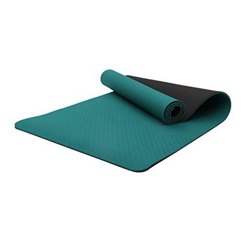WYH Estera de Yoga, Eco Friendly Antideslizante Ejercicio Mat con Correa for la Mujer, Mats Entrenamiento de la Aptitud for el hogar (Color : Green 1)