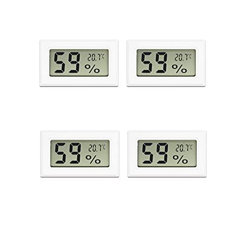Aideepen Mini-LCD-Digital-Thermometer, Hygrometer, Temperatursensor, Luftfeuchtigkeitsmesser, Messgerät, Instrumente, Luftbefeuchter, Luftentfeuchter für Gewächshaus, Messung in Celsius