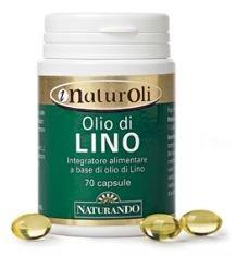 NATURANDO Olio di Lino 70 Perle Integratore alimentare per il metabolismo dei lipidi (trigliceridi)