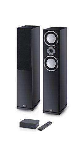 Magnasphere 55 | Vollaktives kabelloses High-End-Lautsprechersystem | zahlreiche Eingänge (Cinch, Toslink, USB, Bluetooth, aptX) | 1 Paar - schwarz