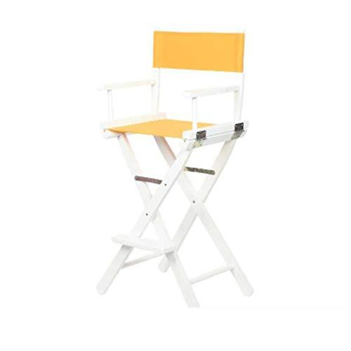 BAR STOOL NAN Liang Camping Folding Director Chair mit abnehmbarem waschbarem Canvas Standard Höhe 45,4 Zoll mit Rückenlehne lässig Make-up Angeln Strandkorb (Farbe : F)