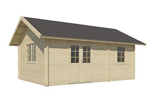 Vikträ Gartenhaus Carolina 40 ISO Blockhaus 575x390cm 40mm Holzhaus Gerätehaus
