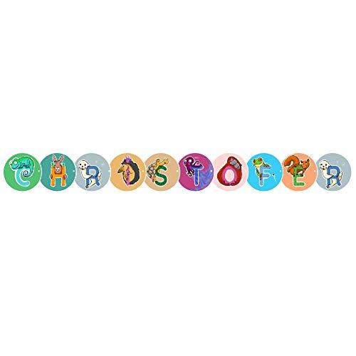 Girlanda - individuelle Buchstabengirlande/Namensgirlande/Wimpelkette/Namenskette für Kinderzimmer, Geburtstag, Baby & Party zum selbst gestalten (10 Buchstaben)