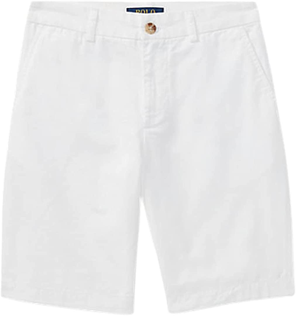Polo Ralph Lauren Big Boys Straight Fit Chino Shorts White