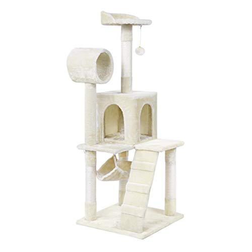 YAHEETECH Cat Tree House Condo Perch Pet Tower for Cats & Kittens
