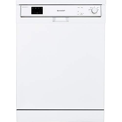 Sharp QW-HX13F472W Standard Dishwasher - White