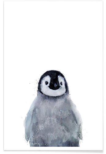 """JUNIQE® Kinderzimmer & Kunst für Kinder Pinguine Poster 20x30cm - Design """"Little Penguin"""" entworfen von Amy Hamilton"""