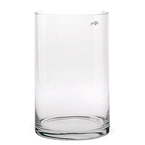 matches21 Vase Glas Zylinder Dekoglas Glasvase Blumenvase Tischvase hoch rund 1 STK - Ø 19x30 cm
