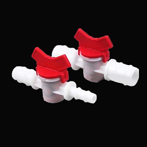 Yitang 4 mm 6 mm 8 mm 10 mm 12 mm 16 mm 20 mm for Manguera de Dos vías Válvula de Bola de plástico Acuario Jardín Conector Micro riego, la válvula de Globo de la Bola, Conector, Adaptador