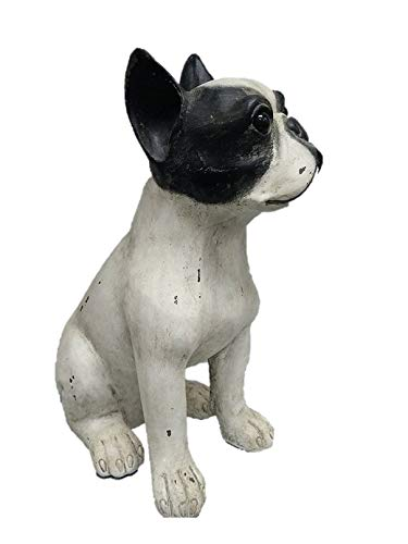 Comfy Hour Doggyland Collection 14' Vintage Wash Sitting Bulldog Decoration, Tabletop Decoration, Figurine, Real Like Dog, for Doggy Lover, Polyresin